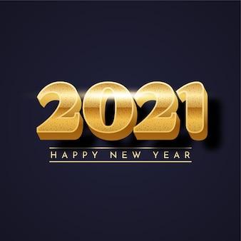 Szczęśliwego nowego roku złoty projekt