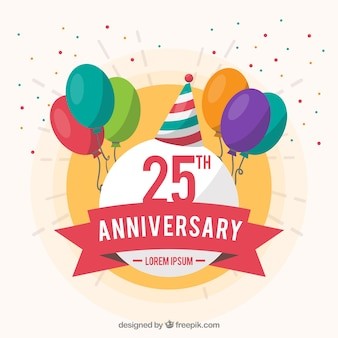 Szczęśliwego rocznicy tło z ballons