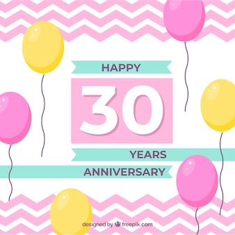 Szczęśliwego rocznicy tło z balonami