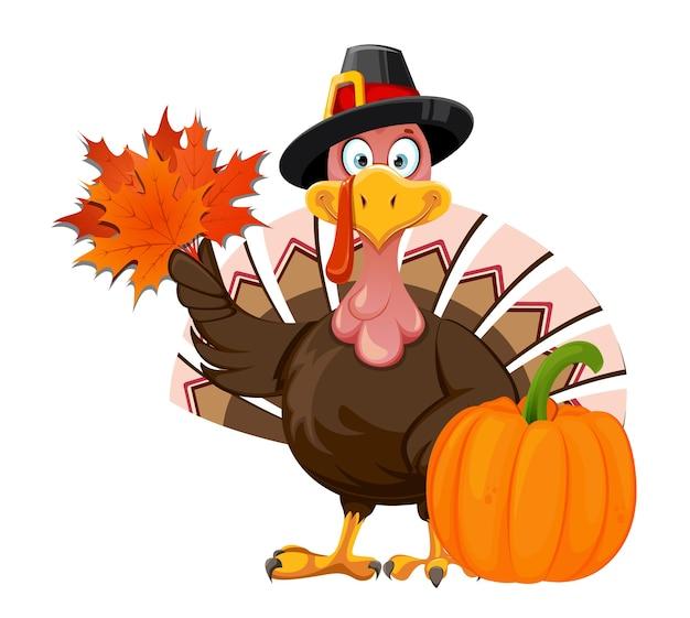 Szczęśliwego święta dziękczynienia. funny cartoon character święto dziękczynienia turcja ptak