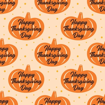 Szczęśliwego święta dziękczynienia. pomarańczowa dynia. wzór