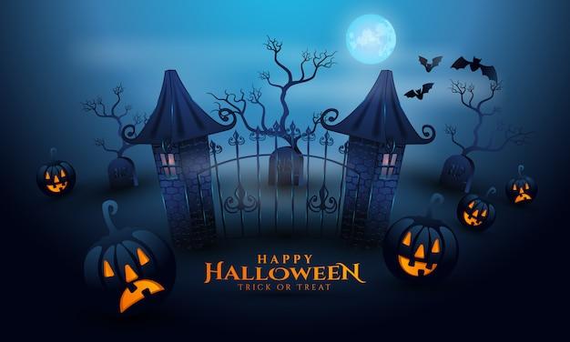 Szczęśliwego tła halloween