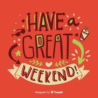 Szczęśliwego weekendu napis