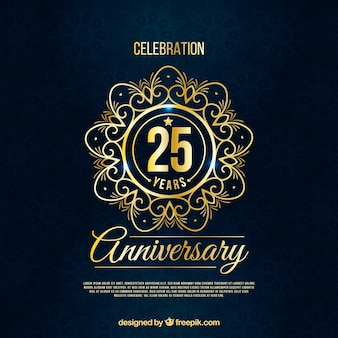 Szczęśliwej rocznicy z numerami w złotym stylu