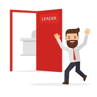 Szczęśliwi ludzie biznesu witają w nowej lokalizacji