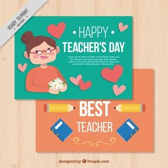 Szczęśliwi nauczycieli dni kartkę z życzeniami