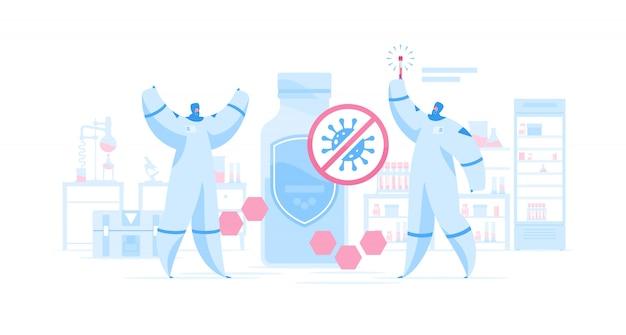 Szczęśliwi naukowcy odkryli medycynę przeciwko koronawirusowi