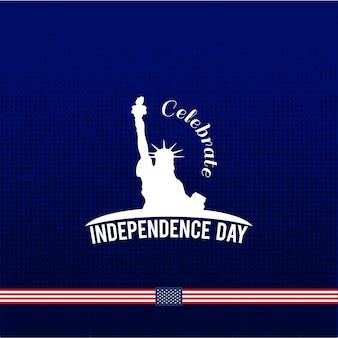 Szczęśliwy 4 lipca dzień niepodległości wektor projektowania na niebieskim tle lipca czwarte