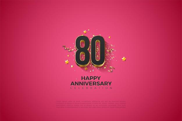 Szczęśliwy 80. rocznica tła