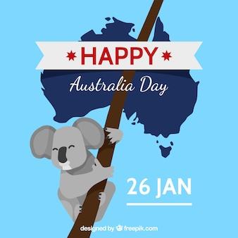 Szczęśliwy australia dnia tło