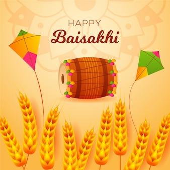 Szczęśliwy baisakhi płaska konstrukcja tła