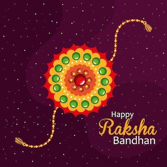 Szczęśliwy baner raksha bandhan z opaską