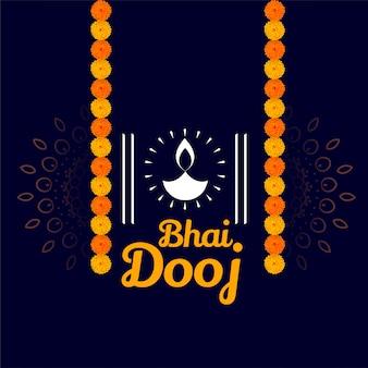 Szczęśliwy bhai dooj życzy ilustracyjny tradycyjnego