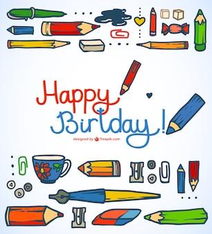 Szczęśliwy birttday rysunek kartkę z życzeniami