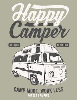 Szczęśliwy camper