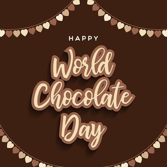 Szczęśliwy czekoladowy dnia literowania tło