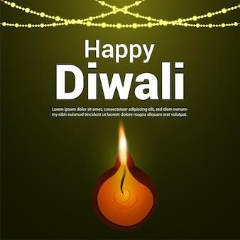 Szczęśliwy diwali indyjski festiwal kartkę z życzeniami!