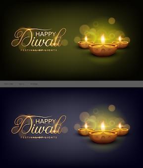 Szczęśliwy diwali indyjski festiwal szablon