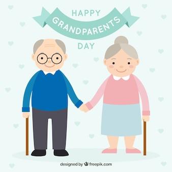 Szczęśliwy dziadek dzień tle