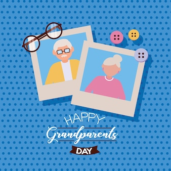 Szczęśliwy dzień dziadków płaska konstrukcja