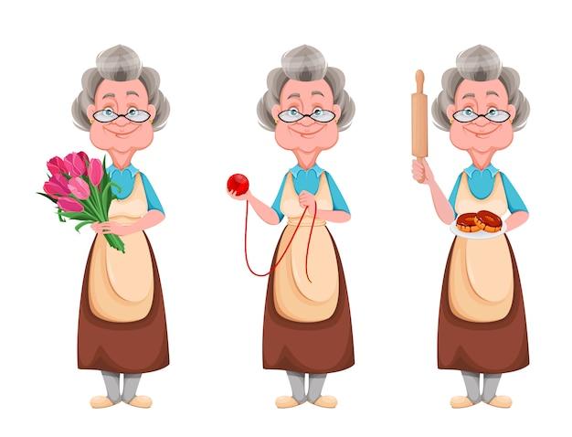 Szczęśliwy dzień dziadków. wesoła babcia