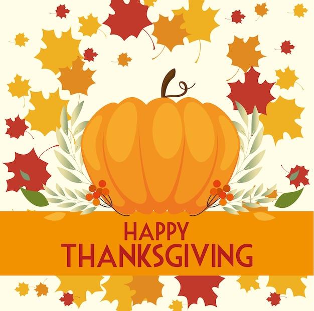 Szczęśliwy dzień dziękczynienia kartkę z życzeniami