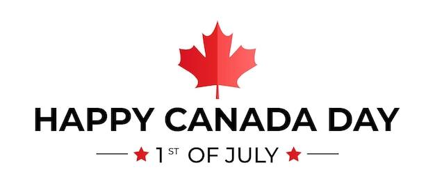 Szczęśliwy dzień kanady w tle pozdrowienia