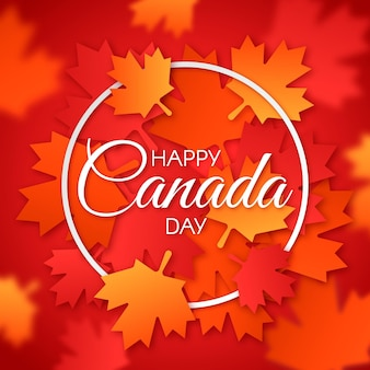 Szczęśliwy dzień kanady z liści klonu