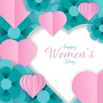 Szczęśliwy dzień kobiet banner