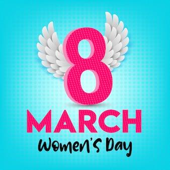 Szczęśliwy dzień kobiet kartkę z życzeniami i pocztówka w dniu 8 marca.