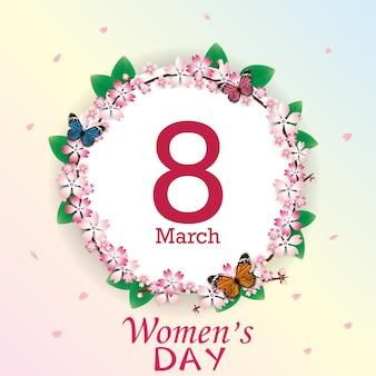 Szczęśliwy dzień kobiet kartkę z życzeniami.