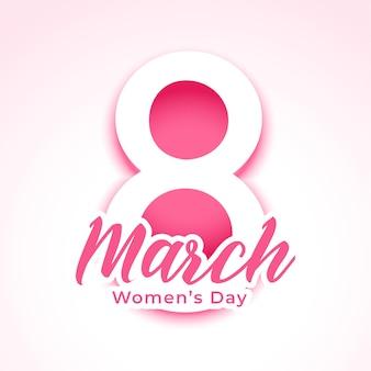 Szczęśliwy dzień kobiet pozdrowienie w stylu papieru