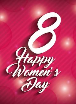 Szczęśliwy dzień kobiet projekt