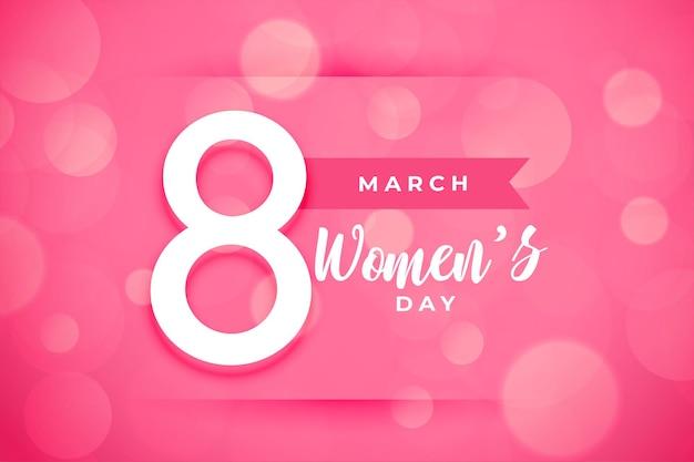 Szczęśliwy dzień kobiet tło w kolorze różowym