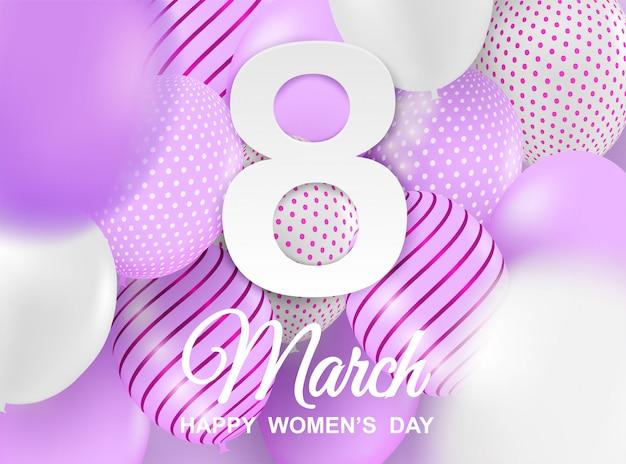 Szczęśliwy dzień kobiet tło.