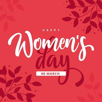 Szczęśliwy dzień kobiet w płaskiej konstrukcji