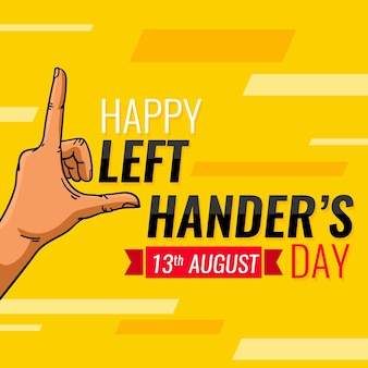 Szczęśliwy dzień leworęcznych gestami