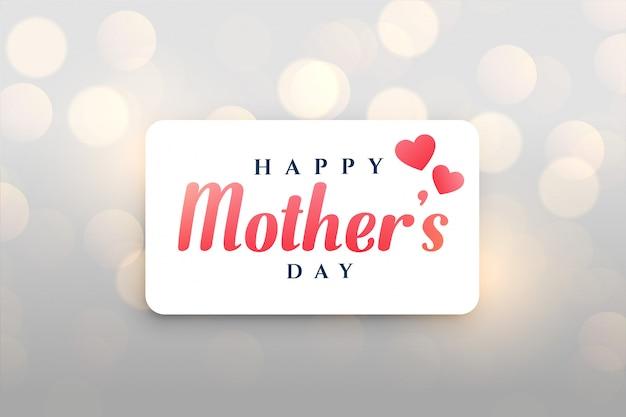 Szczęśliwy dzień matki bokeh tło