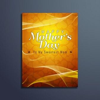 Szczęśliwy dzień matki elegancka broszura