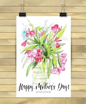 Szczęśliwy dzień matki kartka pocztowa