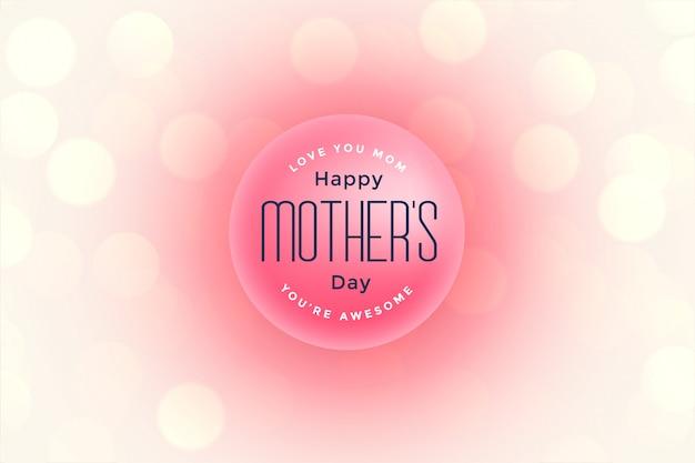 Szczęśliwy dzień matki piękne powitanie