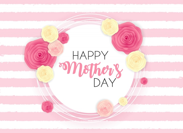Szczęśliwy dzień matki `s słodkie tło z kwiatami.
