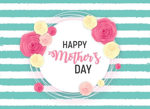 Szczęśliwy dzień matki słodkie tło z kwiatami.