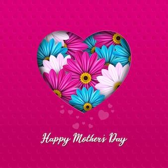 Szczęśliwy dzień matki szablon karty z pozdrowieniami