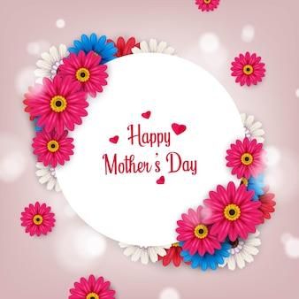 Szczęśliwy dzień matki szablon transparent projekt graficzny ilustracja