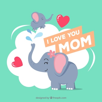 Szczęśliwy dzień matki tło z rodziną