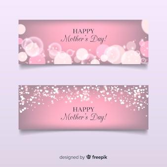 Szczęśliwy dzień matki transparent