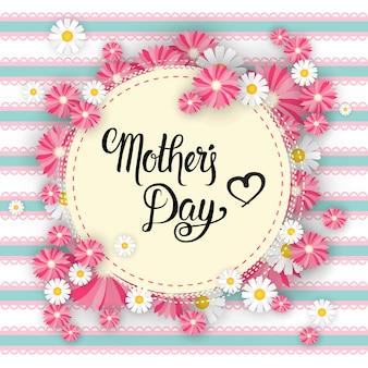 Szczęśliwy dzień matki, wiosenny wakacje kartkę z życzeniami transparent