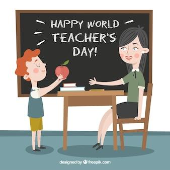 Szczęśliwy dzień nauczyciela świata