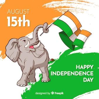 Szczęśliwy dzień niepodległości indii tło